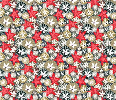 Sand Dollar & Starfish fabric by angelastevens on Spoonflower - custom fabric