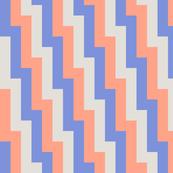steps - blue, grey, red