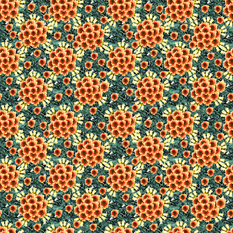 Ruffed flowers 3 fabric by prunis_dulcis on Spoonflower - custom fabric