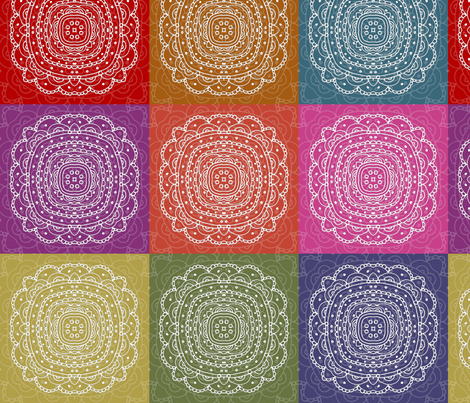 set of colorful hand drawn napkins fabric by lena_sokol on Spoonflower - custom fabric