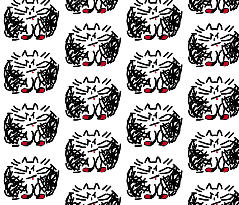 Mad Cat fabric by anniedeb on Spoonflower - custom fabric