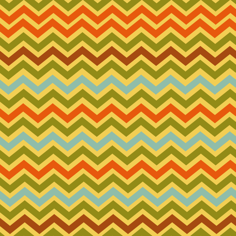 Childhood Vacation Retro Chevron fabric by jozanehouse on Spoonflower - custom fabric