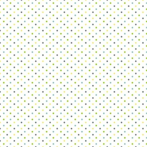 Dots in black, bleu, green and yellow