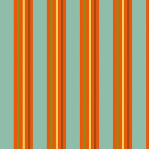 Childhood Vacation Retro Vertical Stripes