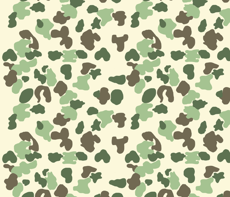 camouflage_hedonist_beige fabric by asset on Spoonflower - custom fabric