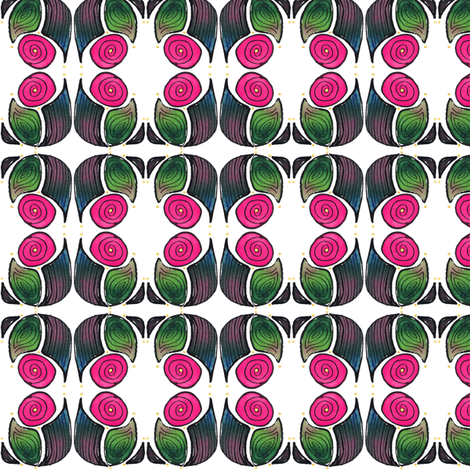 Abstract Moon, pink fabric by whimsikate on Spoonflower - custom fabric
