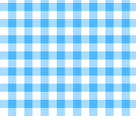utensiless_blue_gingham fabric by victorialasher on Spoonflower - custom fabric