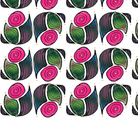 Abstract Moon, Rose, block fabric by whimsikate on Spoonflower - custom fabric