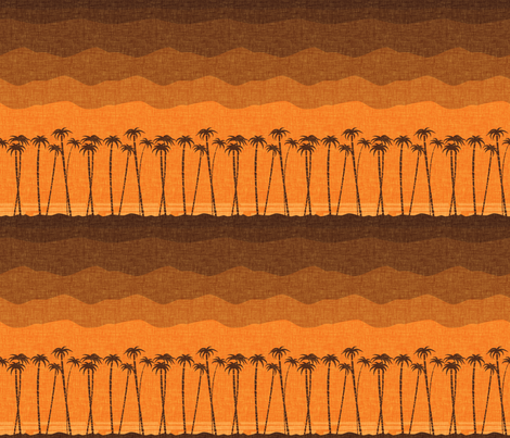 tiki_beach_orange fabric by thecalvarium on Spoonflower - custom fabric
