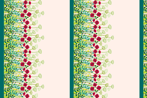 meadow border - custom size for gaby fabric by coggon_(roz_robinson) on Spoonflower - custom fabric