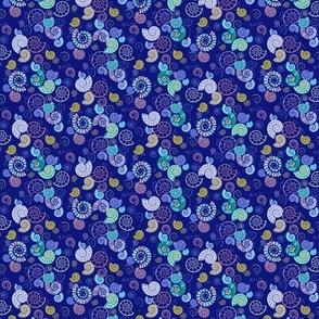 ammonites ditsy blue