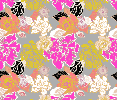 Jungle Passion Medium scale fabric by joanmclemore on Spoonflower - custom fabric