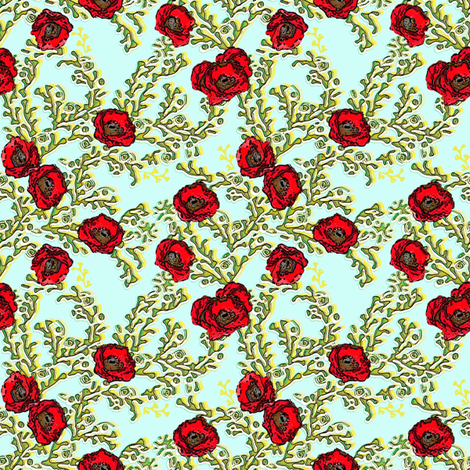 Poppy Field fabric by joanmclemore on Spoonflower - custom fabric