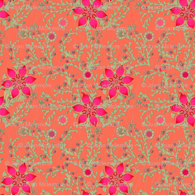 Moss Rose in Coral