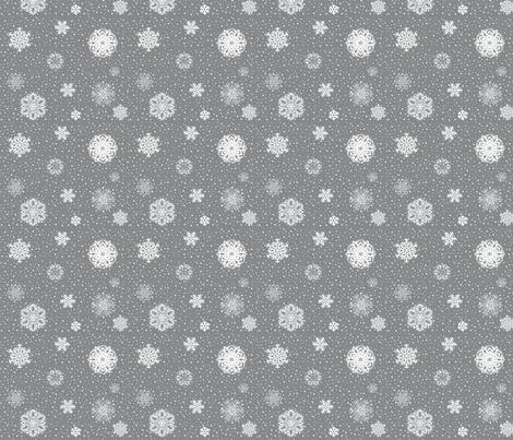 Snowflake_Fabric_for_Contest fabric by prettyhawk on Spoonflower - custom fabric