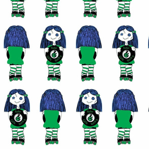7 in Green Rocking Derby Doll 7 in