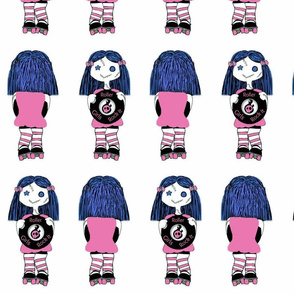7 in Pink Rocking Derby Doll 7 in