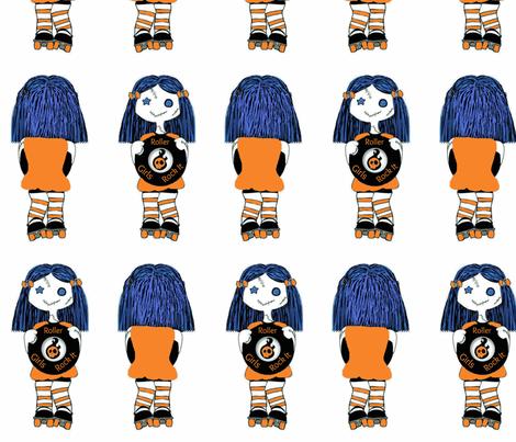 7 in Orange Rocking Derby Doll fabric by derbymom716 on Spoonflower - custom fabric