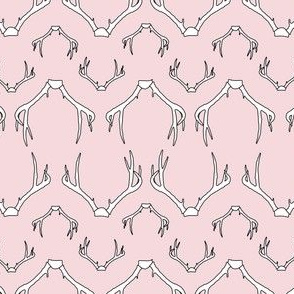 Antlers Baby Pink