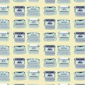 Typewriters Blue Yellow
