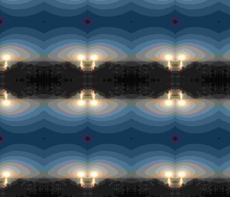 Lighthouse at Night fabric by ashira on Spoonflower - custom fabric