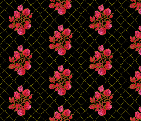 Rose Coordinate fabric by jadegordon on Spoonflower - custom fabric