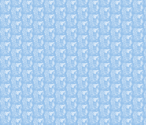 Cameras Blue Periwinkle fabric by curious_nook on Spoonflower - custom fabric