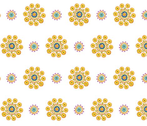Millefiori Flowers fabric by pmegio on Spoonflower - custom fabric