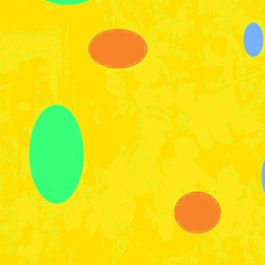 bright yellow with colored spots-ch