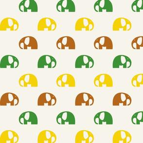 elephants_6cm_3row_yellow-green-brown