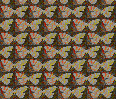 Butterfly Among the Willows fabric by anniedeb on Spoonflower - custom fabric