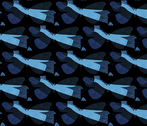 Blue Streak fabric by anniedeb on Spoonflower - custom fabric