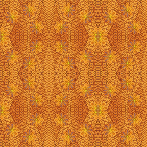 orange jungle fabric by y-knot_designs on Spoonflower - custom fabric