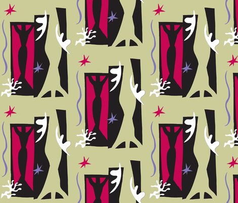 Matisse Collage - Stone fabric by painter13 on Spoonflower - custom fabric