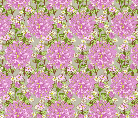 Gabbys_Rose_with_repeats_1 fabric by diannespringer on Spoonflower - custom fabric
