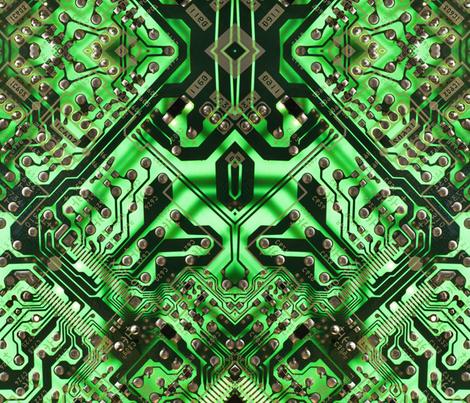 green circuit board wallpaper - craftyscientists - Spoonflower