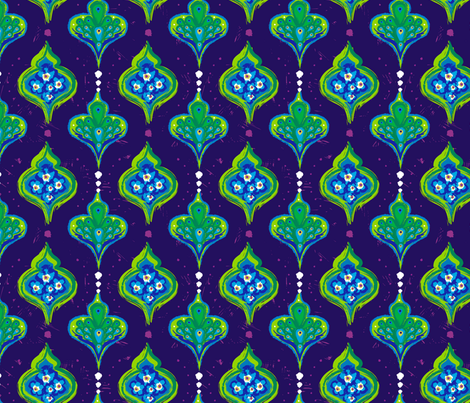 Henri's Neighbor - peacock fabric by hootenannit on Spoonflower - custom fabric