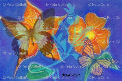 Marigolds and Butterflies