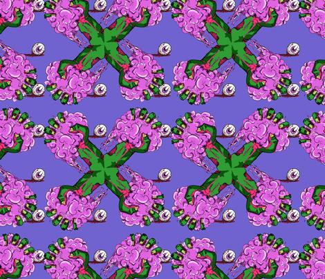 Pinwheel Brains fabric by mattcrossley on Spoonflower - custom fabric