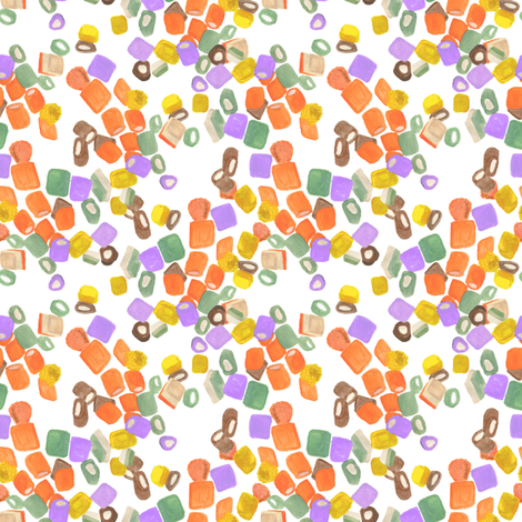 Dolly Mixtures Scattered fabric by hlbyatt on Spoonflower - custom fabric