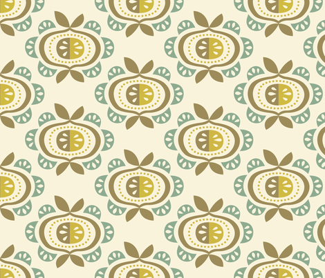 AppleBomb - Aqua Crest fabric by caseyspencer on Spoonflower - custom fabric
