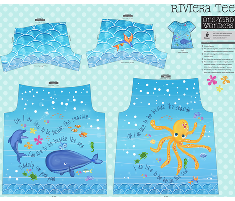 I do like to be beside the seaside! Riviera Tee for One Yard Wonders fabric by bakercourt on Spoonflower - custom fabric