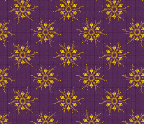 butterflakes_easter_purple fabric by glimmericks on Spoonflower - custom fabric