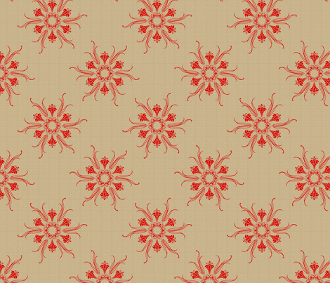 butterflakes_flame_on_beige fabric by glimmericks on Spoonflower - custom fabric