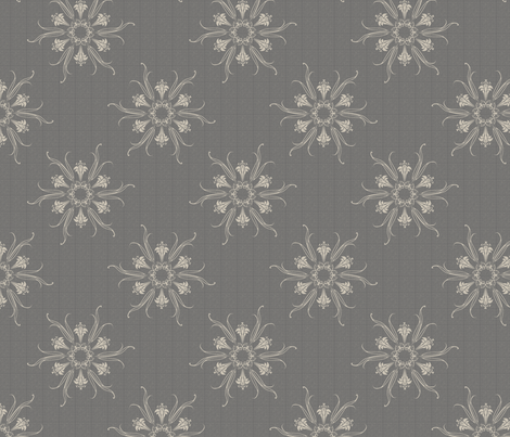 butterflakes silver fabric by glimmericks on Spoonflower - custom fabric