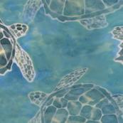 Sea Turtle Batik Style