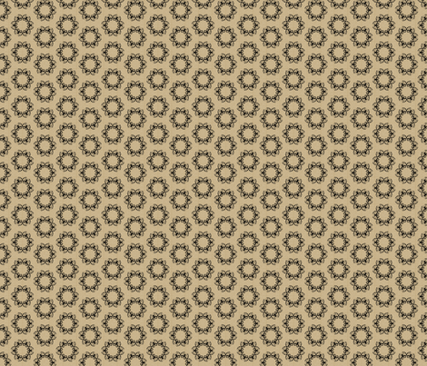 butterflakes_dots_black_on_beige fabric by glimmericks on Spoonflower - custom fabric