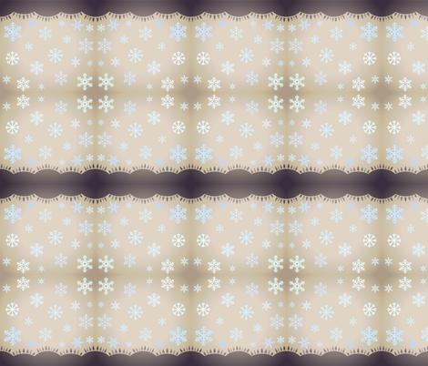 SNOWFLAKES AT DUSK fabric by bluevelvet on Spoonflower - custom fabric