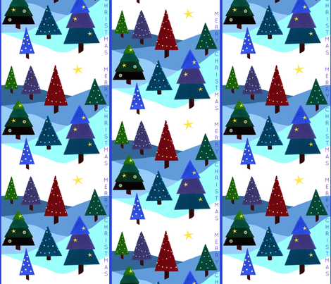 Festive Lights - Merry Christmas fabric by painter13 on Spoonflower - custom fabric