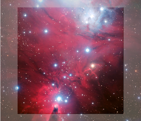 Red nebula fabric paradox23 spoonflower for Nebula material